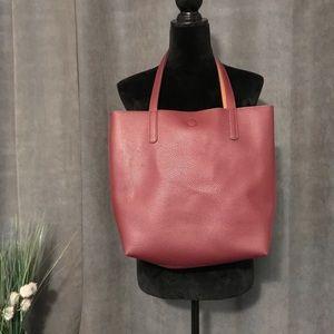 Maroon Shoulder Bag, tan inside.